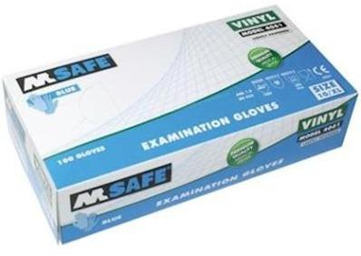 M-Safe 4061 disposable vinyl handschoen - 8/m