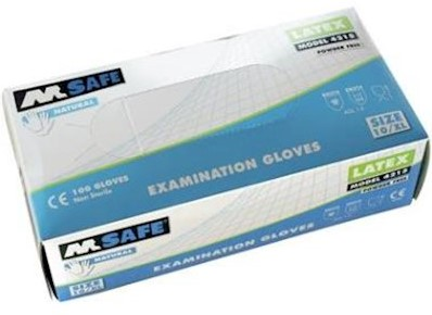 M-Safe 4215 disposable latex handschoen