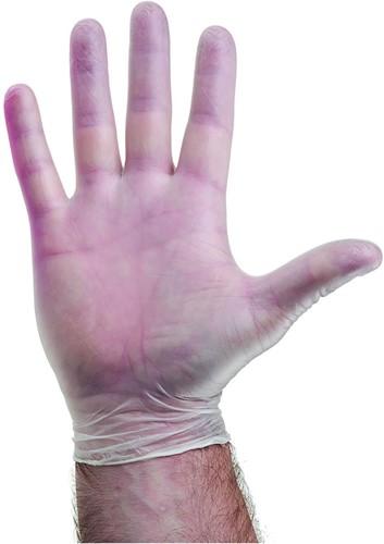 Vinyl handschoenen Naturel gepoederd - 7/s