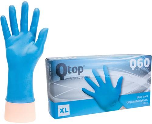 Latex Handschoenen blauw gepoederd