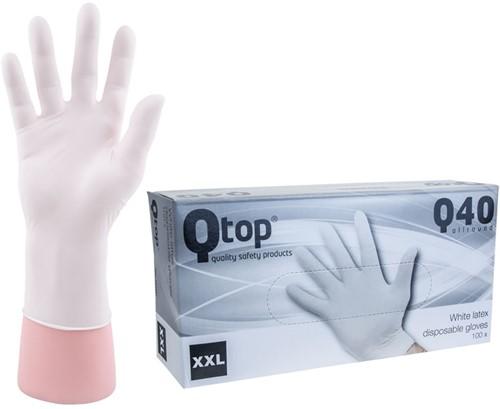 Latex Handschoenen wit poedervrij - 11/xxl