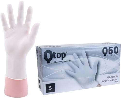 Qtop Q40 Witte Nitril Handschoenen - 7/s