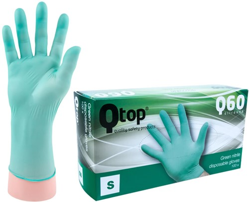 Qtop Q40 Groene Nitril Handschoenen - 8/m