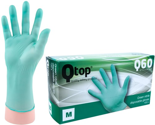 Qtop Q40 Groene Nitril Handschoenen