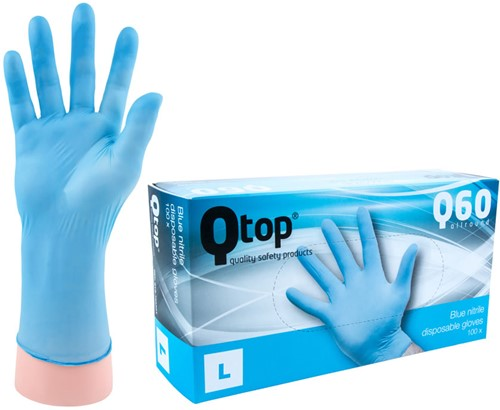 Qtop Q40 Blauwe Nitril Handschoenen - 9/l