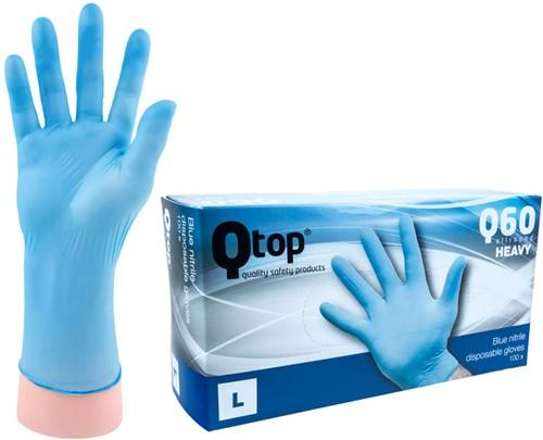 Qtop Q60 Heavy Nitril Handschoenen Blauw - 9/l