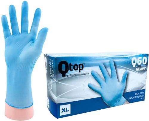 Qtop Q60 Heavy Nitril Handschoenen Blauw - 10/xl