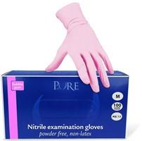 Roze nitril handschoenen