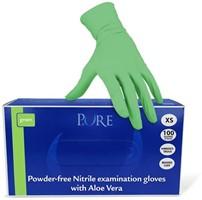 Groene nitril handschoenen