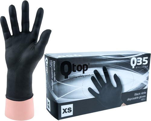 Qtop Q35 Nitril Handschoenen Zwart