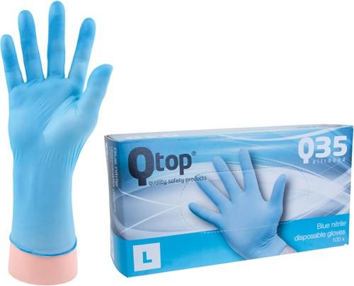Qtop Q35 Blauwe Nitril Handschoenen - 9/l