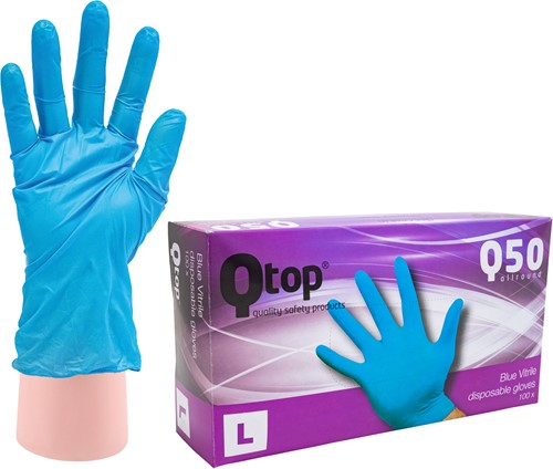 Qtop Q50 Vitrile Handschoenen - 9/l